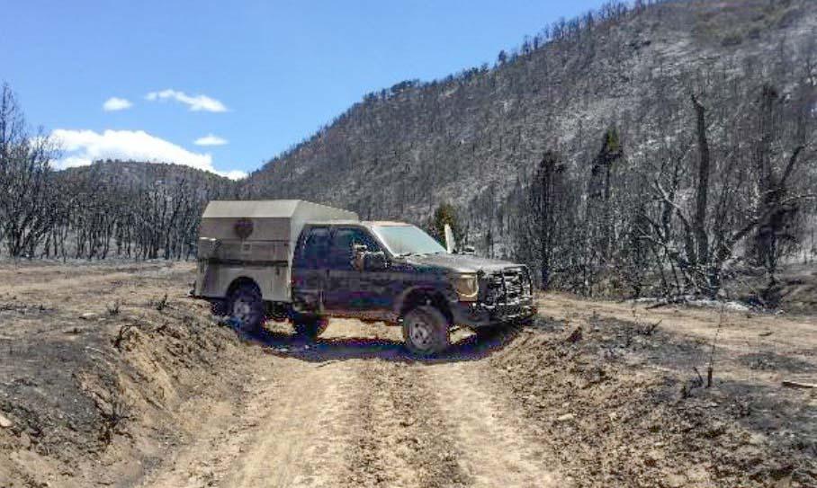 Horse Park Fire burned truck