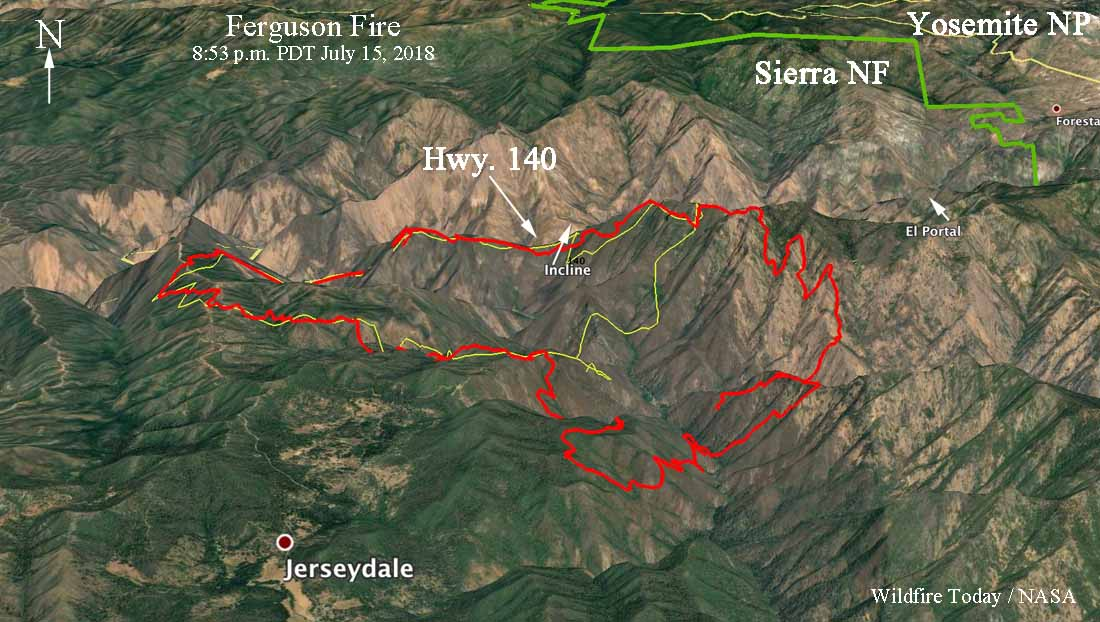 Fire Map Yosemite.Ferguson Fire Forces Evacuations In Jerseydale Area Wildfire Today