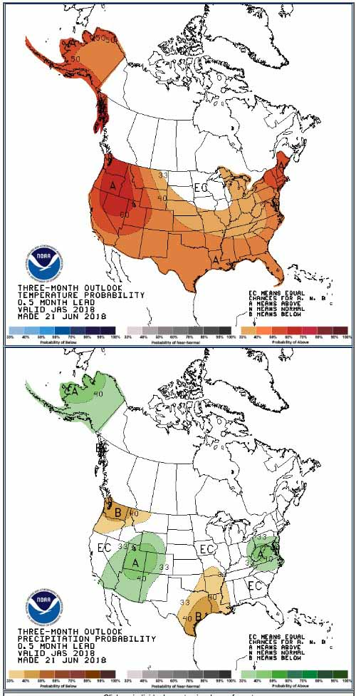 90 day precipitation and temperature outlook