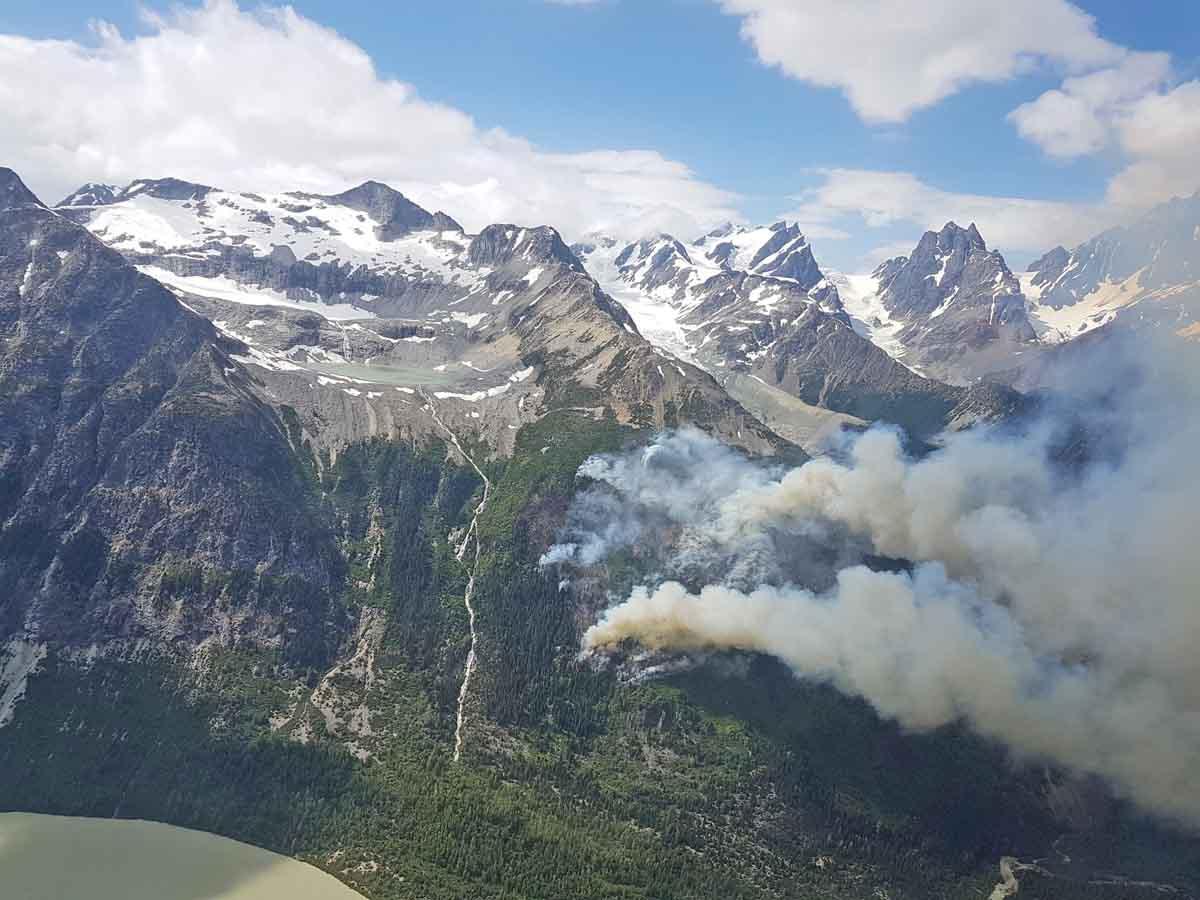 fire North Klinaklini River