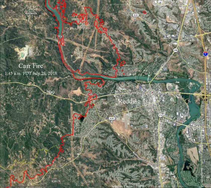 map carr fire redding