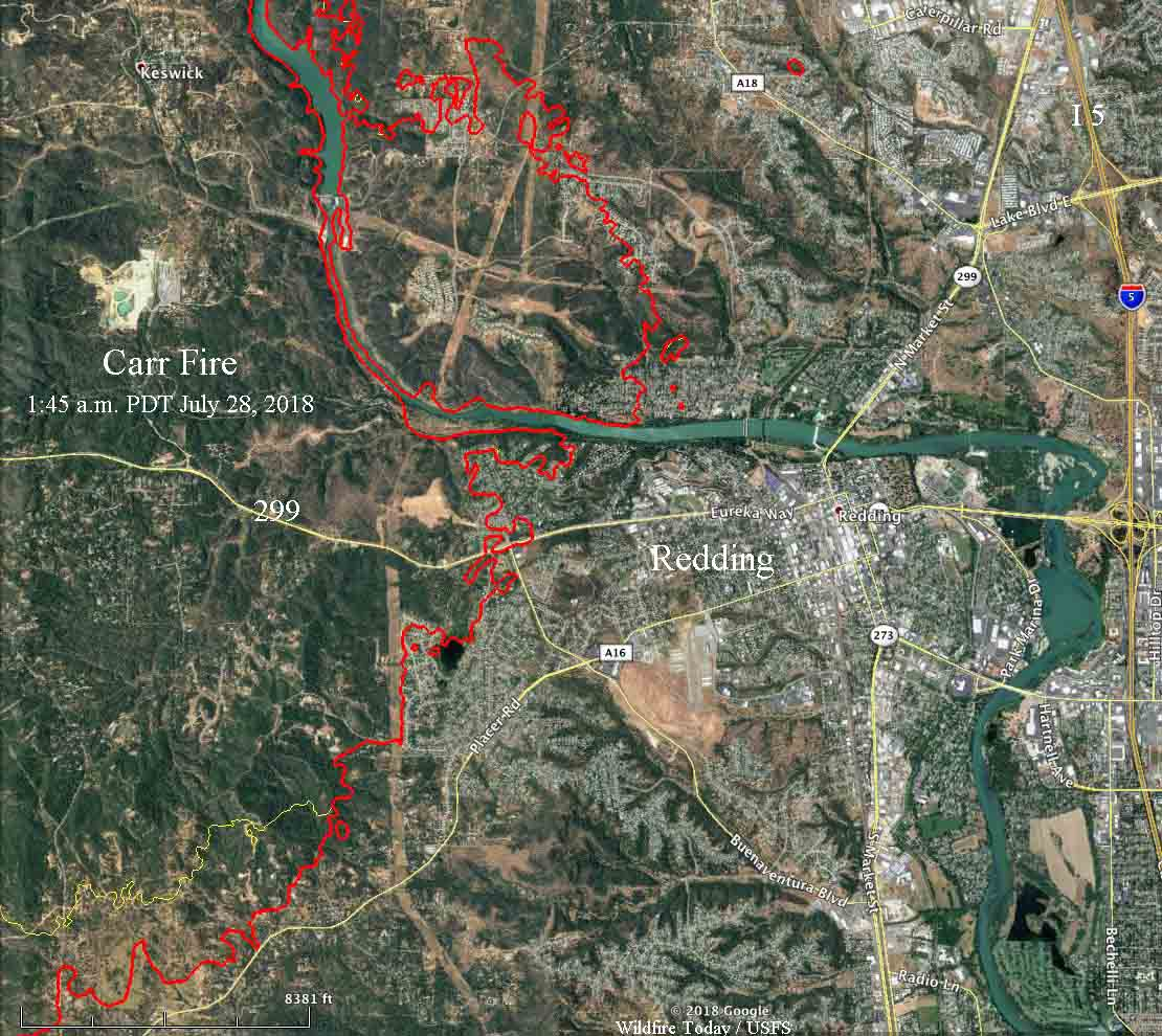 Carr Fire More Than Doubles In Size Near Redding California