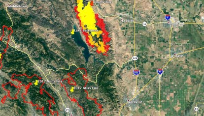 County Fire Burns Tens Of Thousands Of Acres North Of Napa Calif