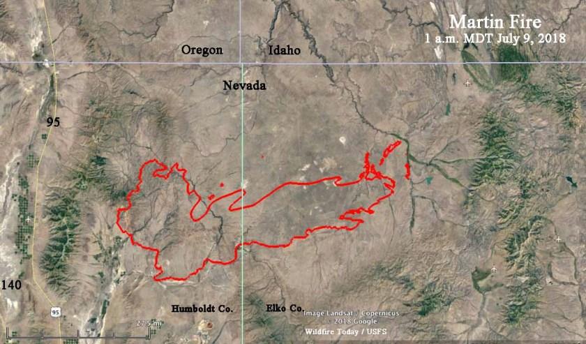 map martin fire nevada