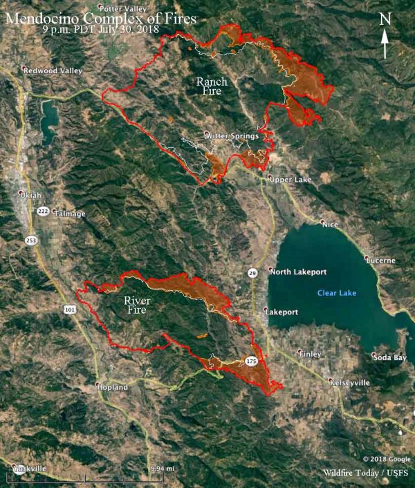 Clear Lake California Fire Map Imgurl