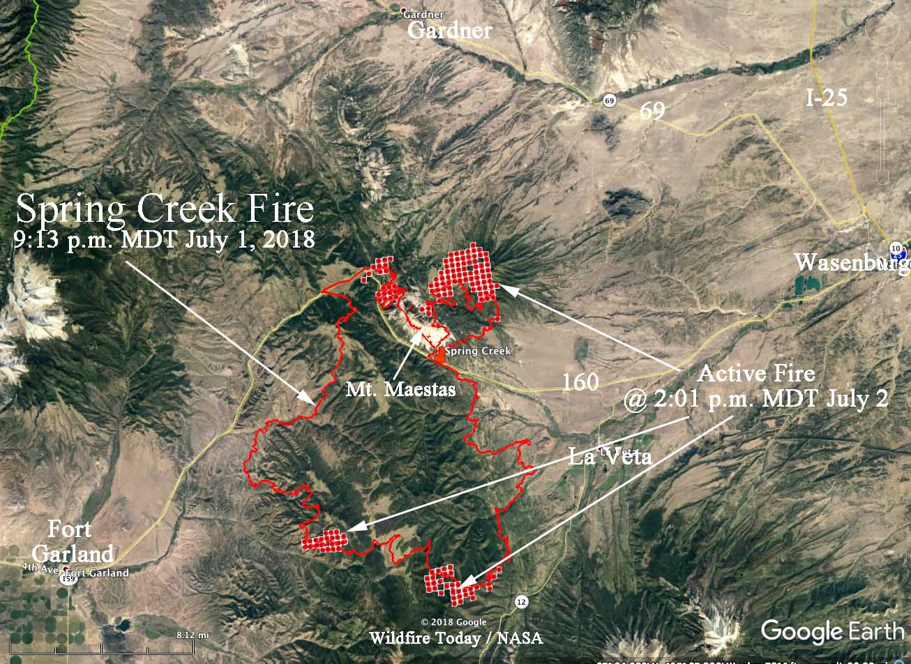 Spring Creek Fire spreads closer to highway 12 - Wildfire Today