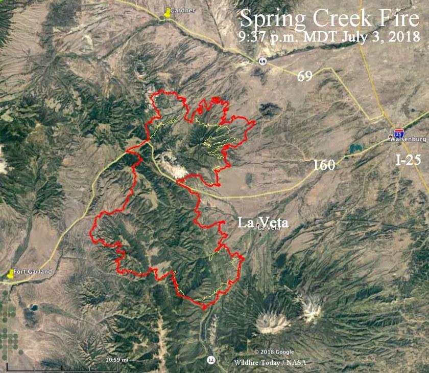 map Spring Creek Fire Colorado