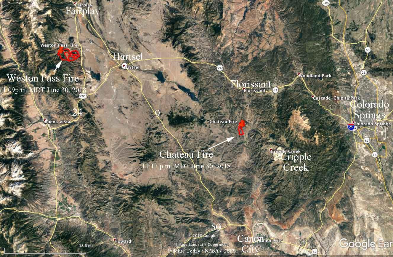 weston pass  u0026 chateau fires burn thousands of acres west