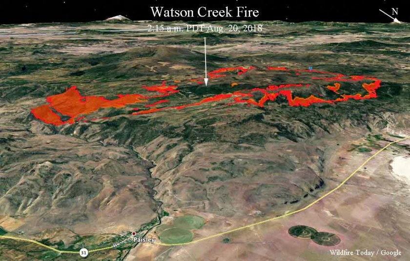 3-D Map Watson Creek Fire
