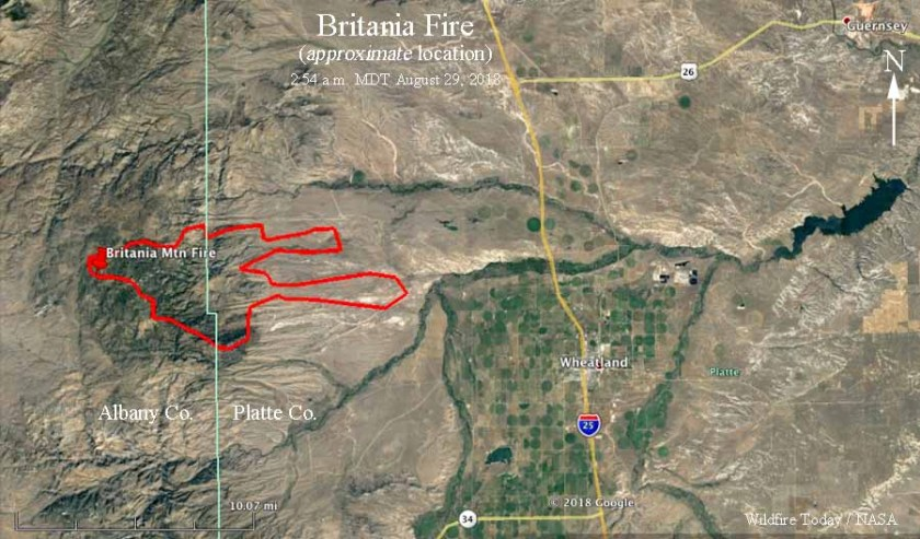 map Britania Fire Wyoming