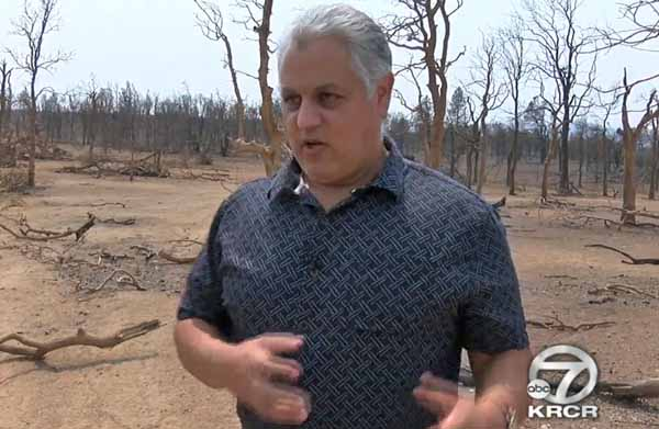 Retired police officer describes how he survived fire tornado at