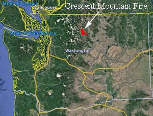 Crescent Mountain Fire Burns Tens Of Thousands Of Acres West Of