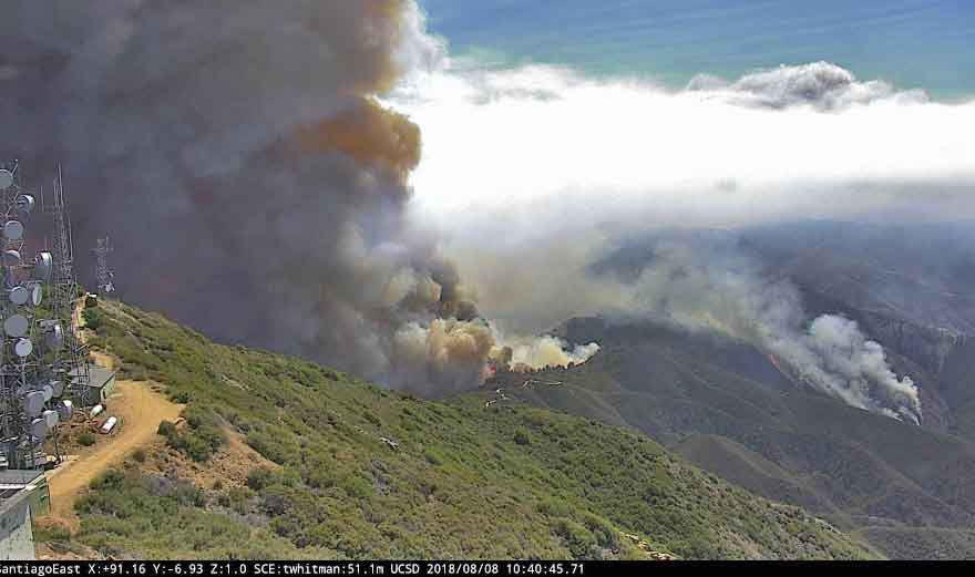 Holy Fire Santiago Peak