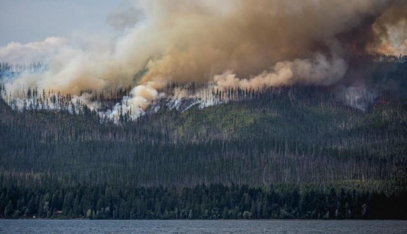 Howe Ridge Fire in Glacier National Park