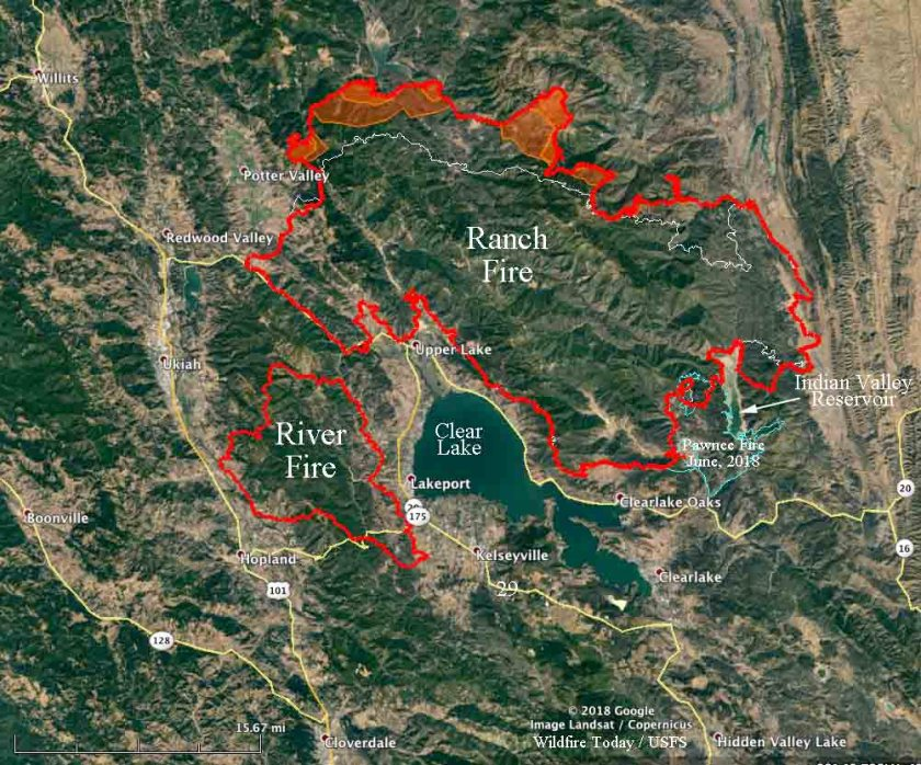 map mendocino complex fire Ranch fire