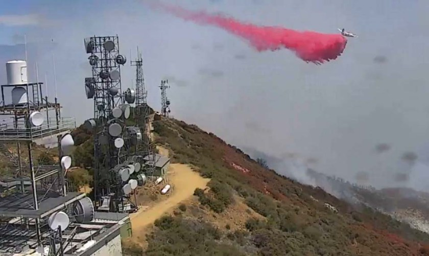 S-2T air tanker Holy Fire Santiago Peak California