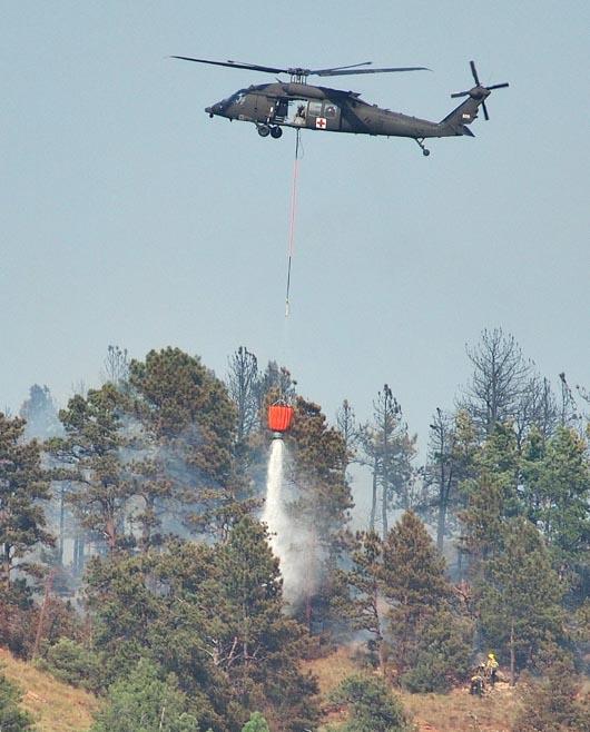 Vineyard Fire Blackhawk helicopter