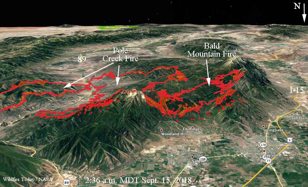 Wildfires close in on Utah communities south of Provo ... on 15 freeway map, i 15 california map, i 15 idaho map, i-15 south map, i 15 mile marker map,