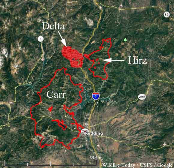 map Delta Fire California