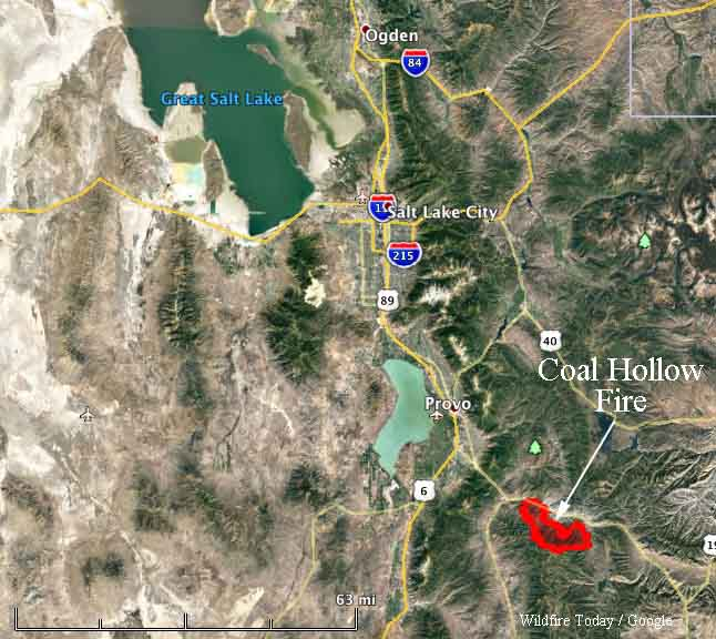 map Coal Hollow Fire Utah