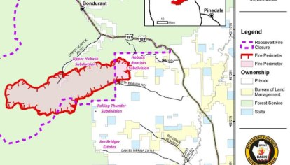 Two Fires South Of Jackson Wyoming Spreading Rapidly At High