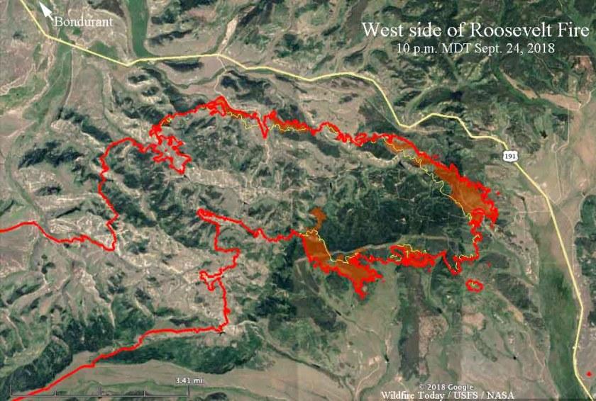 map Roosevelt Fire