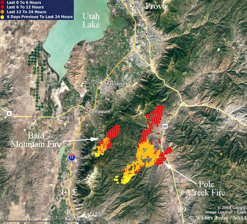 Map Pole Creek Bald Mountain Fires
