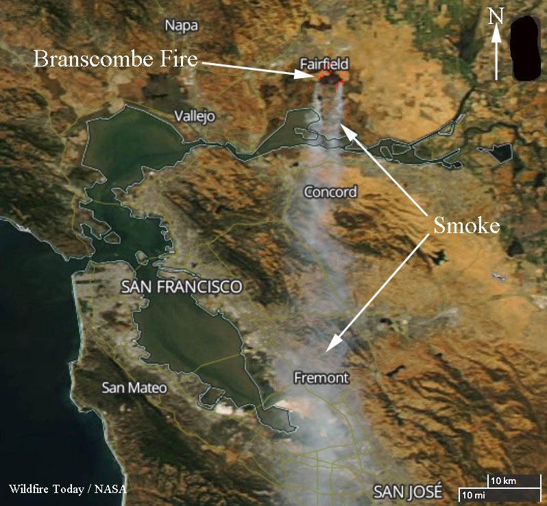 Wildfire Burns Thousands Of Acres East Of Fairfield California
