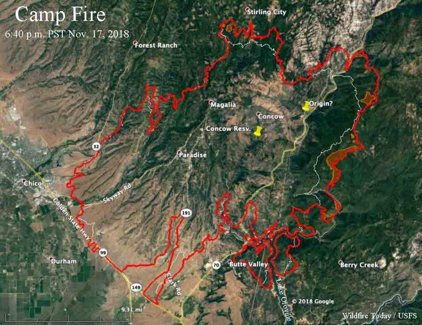 map Camp Fire
