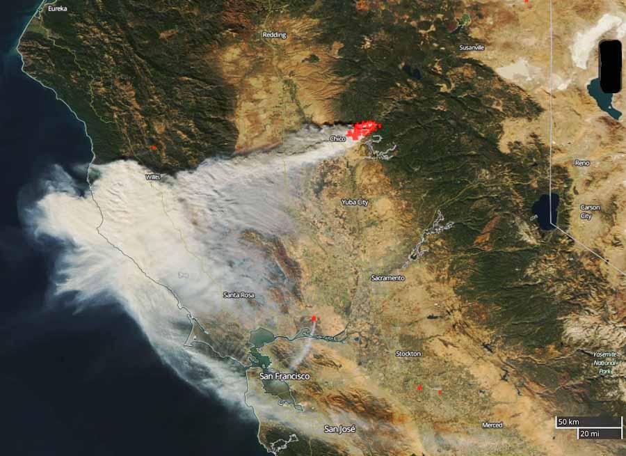 Wildfire smoke mapsmok - Wildfire Today on