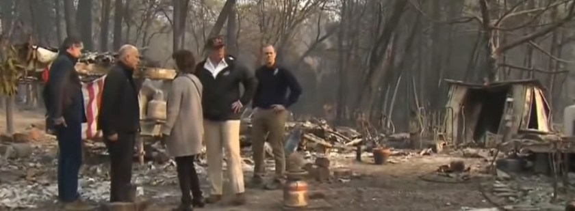 President Trump Camp Fire visit