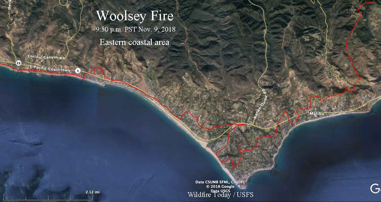 Woolsey Fire Burns To The Ocean As 200 000 Evacuate Wildfire Today