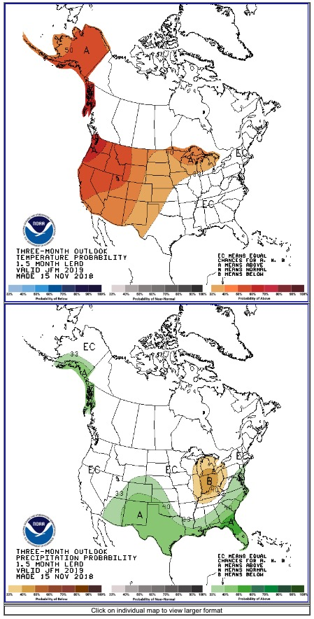 temperature precipitation outlook wildfire