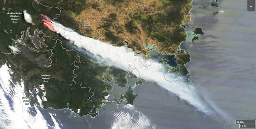 Tasmania Fire Gell River