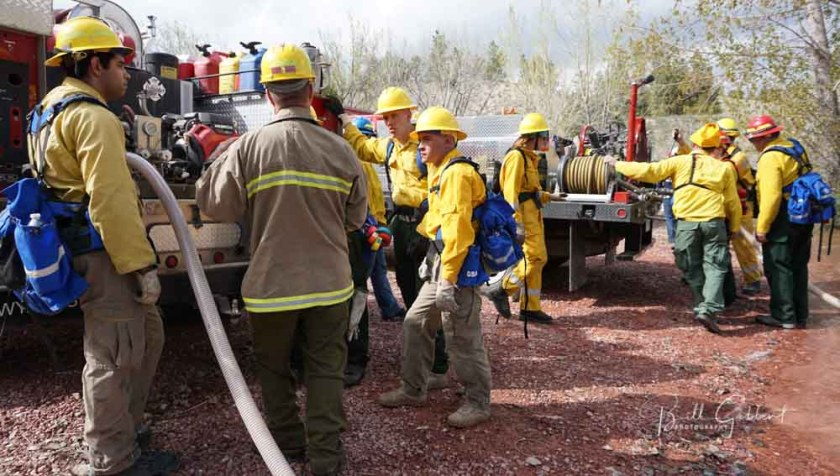 Firefighters training Guernsey, Wyoming