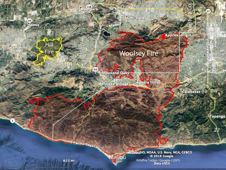 fires in california 2019 map