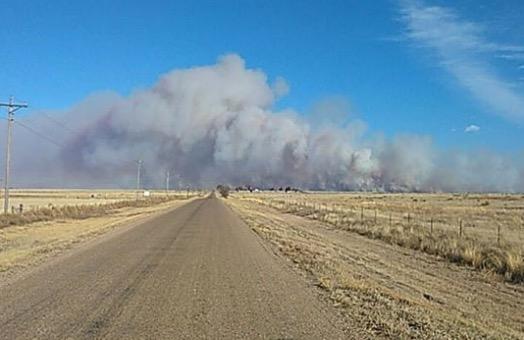 CR34 Fire in southeast Colorado