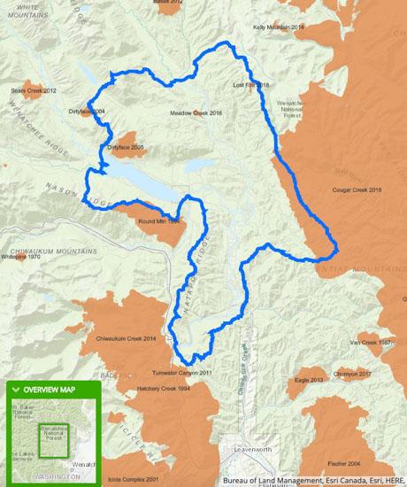 Spokane Complex Fire Map.Washington Archives Wildfire Today