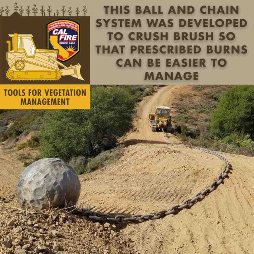 ball and chain vegetation management fire hazard