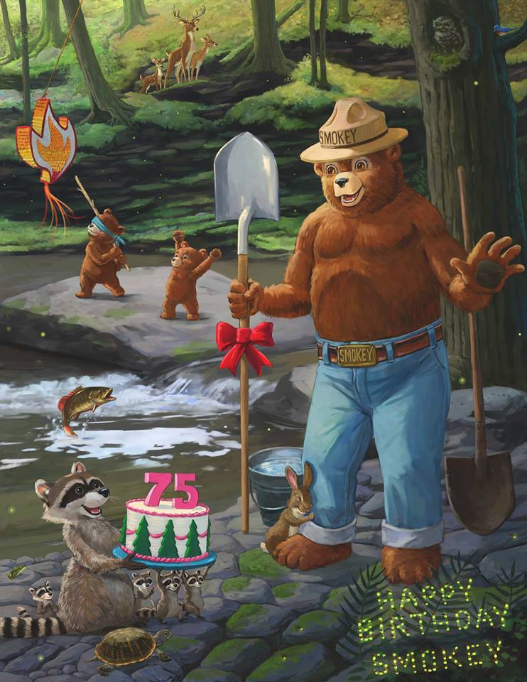 Smokey Bear 75th birthday