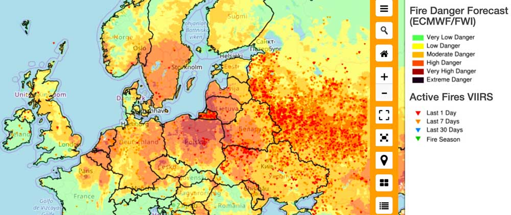 It is April - and parts of Europe are in High to Very High