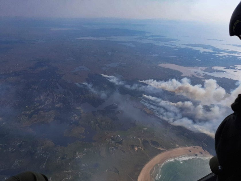 wildfire in northwest Ireland