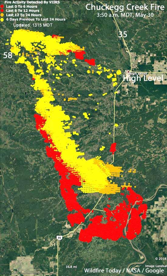 Map Chuckegg Creek Fire Northern Alberta