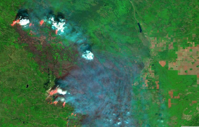 satellite photo Chuckegg fire May 26 2019