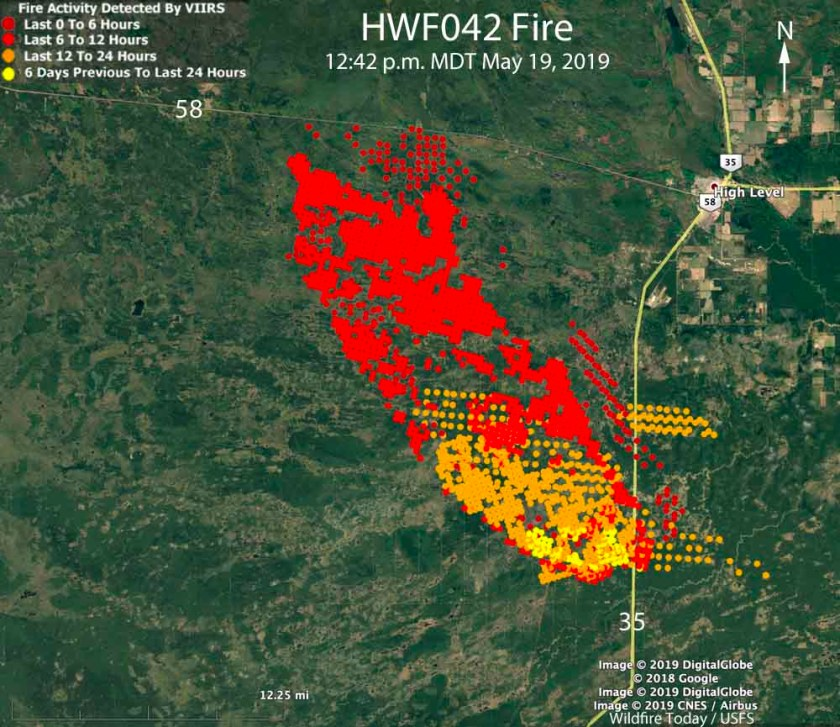 map wildfire high level alberta may 19, 2019