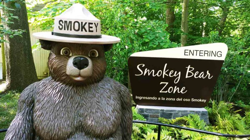 Smokey Bear exhibit National Zoo