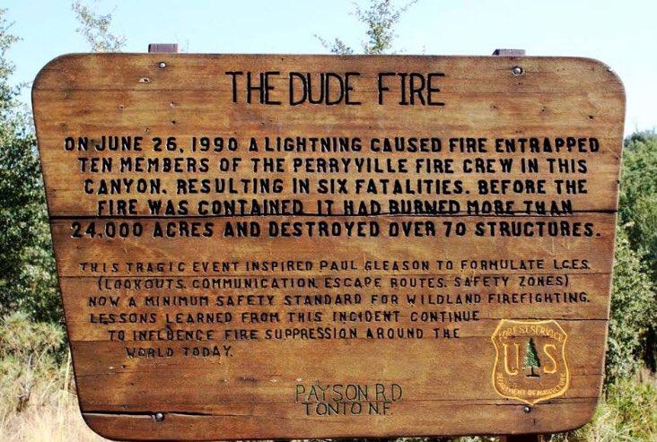 Dude Fire Arizona firefighters fatalities