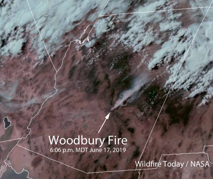 Satellite photo Woodbury Fire