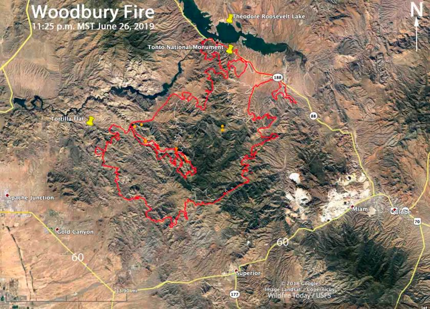 Map of the Woodbury Fire P