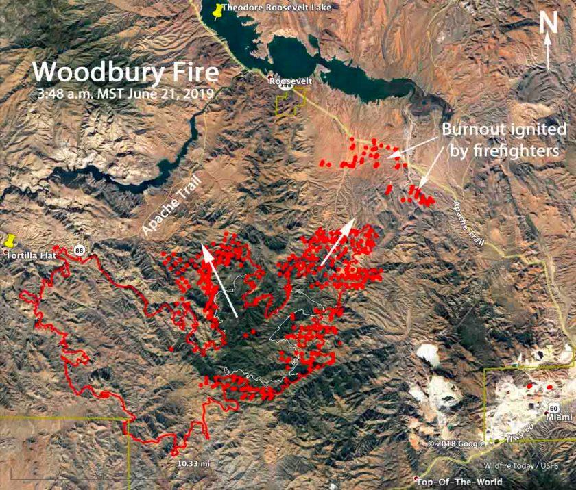 map Woodbury Fire Arizona Phoenix